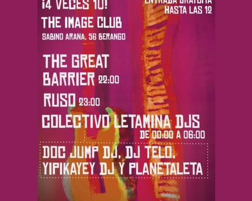 Fiesta Letamina en The Image Club: Conciertos y DJs
